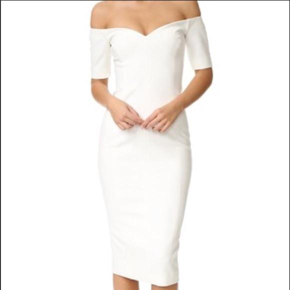 White Shoulder Dress